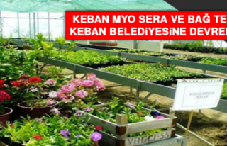 Keban MYO Sera ve Bağ Tesisi, Keban Belediyesine...