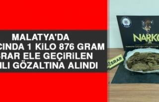 Malatya'da Aracında 1 Kilo 876 Gram Esrar Ele...