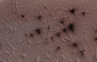 Mars'taki Gizemli Örümcek Şekillerinin Sırrı...