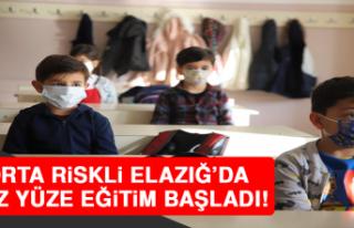 Orta Riskli Elazığ'da Yüz Yüze Eğitim Başladı,...