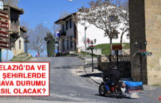 25 Nisan'da Elazığ'da Hava Durumu Nasıl Olacak?