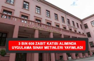 3 Bin 608 Zabıt Katibi Alımında Uygulama Sınav...