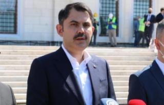 Bakan Kurum: Türkiye'de 1 milyon 550 bin konutun...