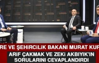 Bakan Murat Kurum, Merak Edilen Soruları Tek Tek...