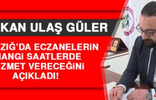 Başkan Ulaş, Eczanelerin Nasıl Hizmet Vereceğini...
