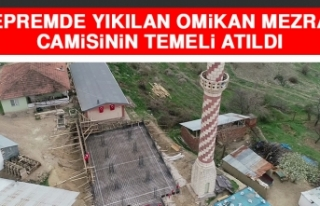 Depremde Yıkılan Omikan Mezrası Camisinin Temeli...