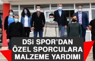 DSİ Spor'dan Özel Sporculara Malzeme Yardımı