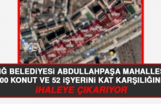 Elazığ Belediyesi Abdullahpaşa Mahallesi'nde...