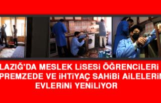 Elazığ'da Meslek Lisesi Öğrencileri Depremzede...