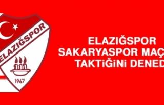 Elazığspor, Sakaryaspor Maçının Taktiğini Denedi