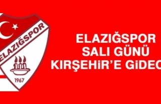 Elazığspor, Salı Günü Kırşehir'e Gidecek