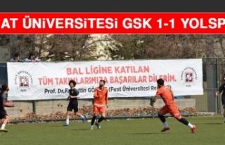 Fırat Üniversitesi GSK 1-1 Yolspor