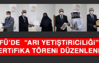 """FÜ'de """"Arı Yetiştiriciliği"""" Sertifika..."""