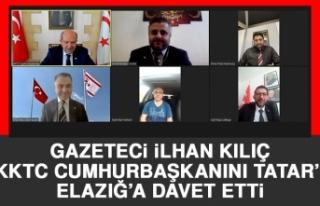 Gazeteci İlhan Kılıç KKTC Cumhurbaşkanını Tatar'ı...