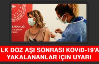 İlk Doz Aşı Sonrası Kovid-19'a Yakalananlar...