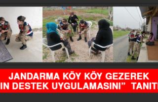"""Jandarma Köy Köy Gezerek """"Kadın Destek Uygulamasını""""..."""