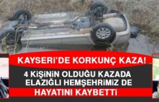 Kayseri'de Korkunç Kaza! Elazığlı Hemşehrimiz...