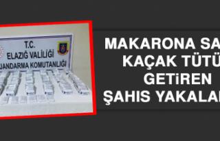 Makarona Sarılı Kaçak Tütün Getiren Şahıs Yakalandı