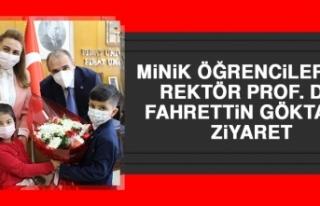 Minik Öğrencilerden Rektör Prof. Dr. Göktaş'a...