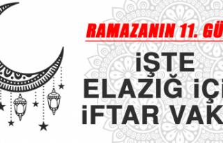 Ramazanın On Birinci Gününde Elazığ'da İftar...