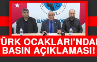 Türk Ocakları'ndan Basın Açıklaması