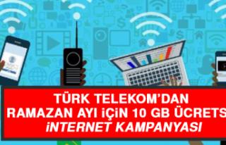 Türk Telekom'dan Ramazan Ayı İçin 10 GB Ücretsiz...