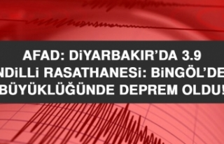 AFAD: Diyarbakır'da, Kandilli Rasathanesi: Bingöl'de...