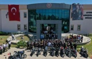 Aydın'ın kültür tanıtımına motosiklet tutkunlarından...