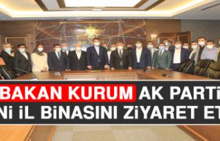 Bakan Kurum, AK Parti Yeni İl Binasını Ziyaret...