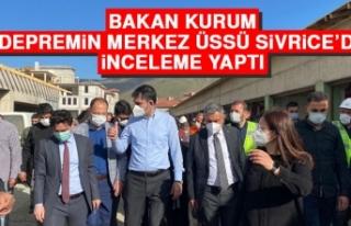 Bakan Kurum, Depremin Merkez Üssü Sivrice'de İnceleme...