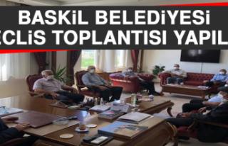 Baskil Belediyesi Meclis Toplantısı Yapıldı