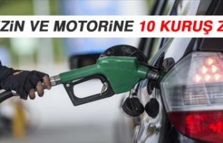 Benzin ve Motorine 10 Kuruş Zam