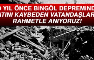 Bingöl'deki Acı Günün Yıl Dönümü