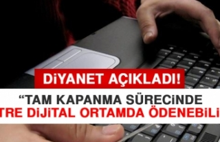 Diyanet Tam Kapanma Sürecinde Fitre Dijital Ortamda...