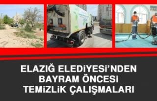 Elazığ Belediyesi'nde Bayram Öncesi Temizlik...