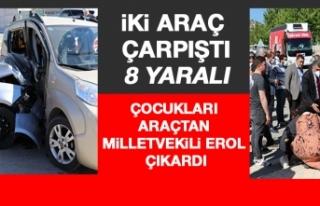 Elazığ'da İki Araç Çarpıştı: 8 Yaralı,...