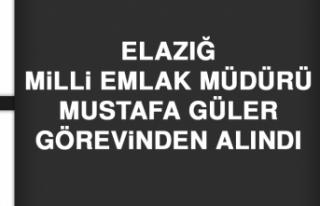 Elazığ Milli Emlak Müdürü Mustafa Güler Görevinden...