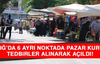 Elazığ'da 6 Ayrı Noktada Pazar Kuruldu, Tedbirler...