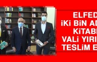 ELFED İki Bin Adet Kitabı Vali Yırık'a Teslim...