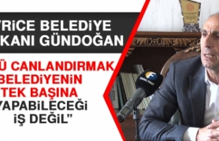 Gündoğan: Gölü Canlandırmak Belediyenin Tek Başına...
