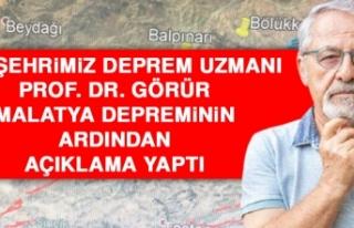 Hemşehrimiz Deprem Uzmanı Prof. Dr. Görür Açıklama...