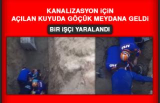 Kanalizasyon İçin Açılan Kuyuda Göçük Meydana...