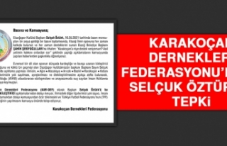 Karakoçan Dernekleri Federasyonu'ndan Selçuk Öztürk'e...