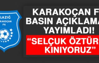 """Karakoçan FK Basın Açıklaması Yayımladı! """"Selçuk..."""