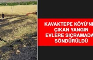 Kavaktepe Köyü'nde Çıkan Yangın Evlere Sıçramadan...