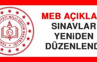 MEB Açıkladı Sınavlar Yeniden Düzenlendi