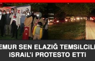 Memur Sen Elazığ Temsilciliği İsrail'i Protesto...