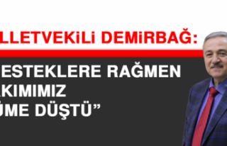 Milletvekili Demirbağ: Desteklere rağmen takımımız...