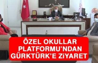 Özel Okullar Platformu'ndan Gürktürk'e Ziyaret