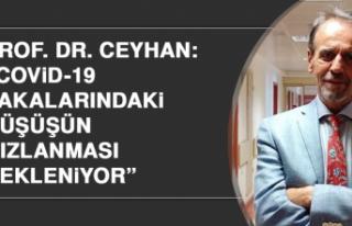 """Prof. Dr. Ceyhan: """"Covid-19 vakalarındaki düşüşün..."""